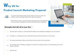 Why Us For Product Launch Marketing Proposal Ppt Example File