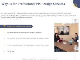 Why Us For Professional Ppt Design Services Collaborative Approach Ppt Powerpoint Presentation Designs