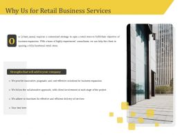Why Us For Retail Business Services Ppt Gallery