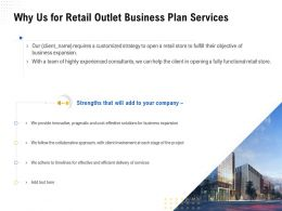 Why Us For Retail Outlet Business Plan Services Ppt Powerpoint Presentation Ideas Mockup