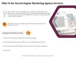 Why Us For Search Engine Marketing Agency Services Ppt File Design