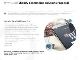 Why Us For Shopify Ecommerce Solutions Proposal Ppt Powerpoint Presentation Summary