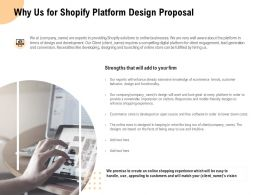 Why Us For Shopify Platform Design Proposal Ppt Powerpoint Presentation File Icons