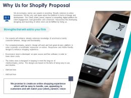 Why Us For Shopify Proposal Ppt Powerpoint Presentation File Deck