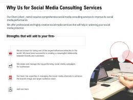 Why Us For Social Media Consulting Services Ppt Powerpoint Gallery Slide