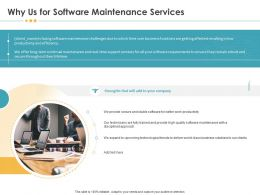 Why Us For Software Maintenance Services Strengths Ppt Template