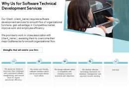 Why Us For Software Technical Development Services Ppt Demonstration