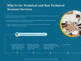 Why Us For Technical And Non Technical Sessions Services Ppt File Aids