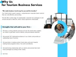 Why Us For Tourism Business Services Dedicated Assistance Ppt Powerpoint Presentation Example 2015