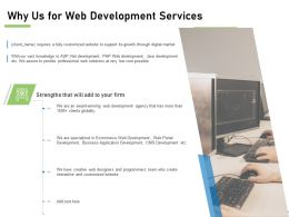Why Us For Web Development Services Ppt Powerpoint Presentation File
