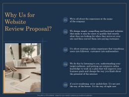 Why Us For Website Review Proposal Customers Ppt File Aids
