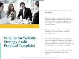 Why Us For Website Strategy Audit Proposal Template Ppt Powerpoint Presentation File