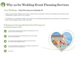 Why Us For Wedding Event Planning Services Ppt Gallery
