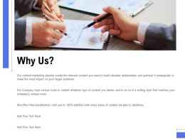 Why Us Ppt Powerpoint Presentation Pictures Graphics Download