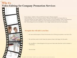Why Us Video Editing For Company Promotion Services Ppt Model