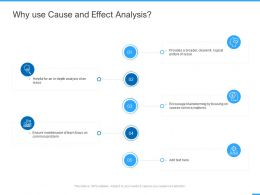 Why Use Cause And Effect Analysis Ppt Powerpoint Presentation Ideas Slides
