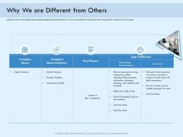 Why We Are Different From Others Digital Payment Online Solution Ppt Diagrams