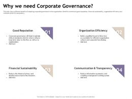 Why We Need Corporate Governance Asymmetry Ppt Powerpoint Presentation Summary Microsoft