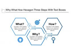 Why What How Hexagon Three Steps With Text Boxes