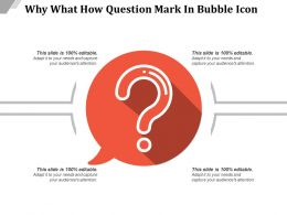 Why What How Question Mark In Bubble Icon