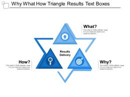 Why What How Triangle Results Text Boxes