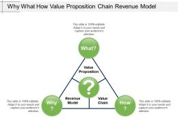 Why What How Value Proposition Chain Revenue Model