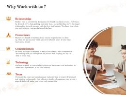 Why Work With Us Communication Ppt Powerpoint Presentation Icon Graphics
