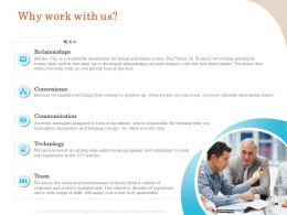 Why Work With Us Convenience Ppt File Design