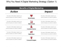 Why You Need A Digital Marketing Strategy Option 1 Ppt Inspiration