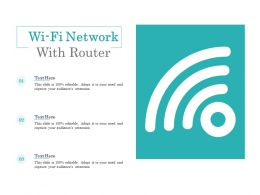 Wi Fi Network With Router