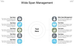 Wide Span Management Ppt Powerpoint Presentation Pictures Microsoft Cpb