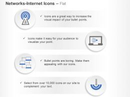 Wifi Antenna Network Data Communication Ppt Icons Graphics