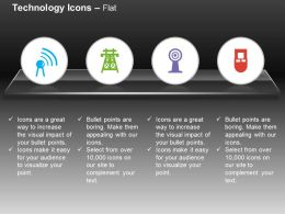 Wifi Antenna Tower Remote Ppt Icons Graphics