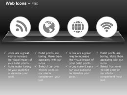 Wifi Globe Technical Connection Signals Ppt Icons Graphics