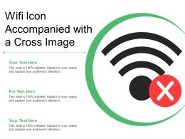 Wifi Icon Accompanied With A Cross Image