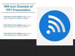 Wifi Icon Example Of Ppt Presentation