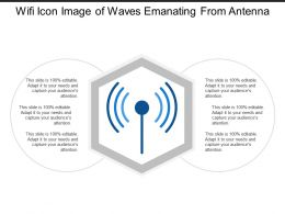 Wifi Icon Image Of Waves Emanating From Antenna