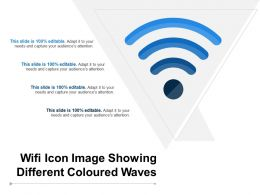 Wifi Icon Image Showing Different Coloured Waves