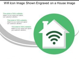 Wifi Icon Image Shown Engraved On A House Image