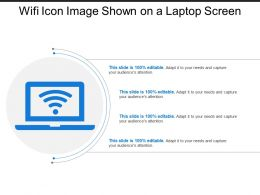 Wifi Icon Image Shown On A Laptop Screen