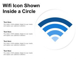 Wifi Icon Shown Inside A Circle