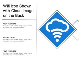 Wifi Icon Shown With Cloud Image On The Back