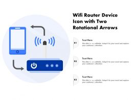 Wifi Router Device Icon With Two Rotational Arrows