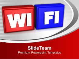 Wifi Symbol Internet Powerpoint Templates Ppt Backgrounds For Slides 0113