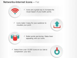 Wifi Upload Data Power Button Ppt Icons Graphics