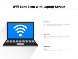 Wifi Zone Icon With Laptop Screen