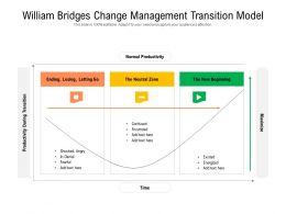 William Bridges Change Management Transition Model