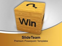 Win And Lose Business Powerpoint Templates Ppt Backgrounds For Slides 0113