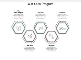 Win Loss Program Ppt Powerpoint Presentation Portfolio Infographic Template Cpb