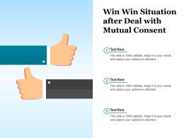 Win Win Situation After Deal With Mutual Consent